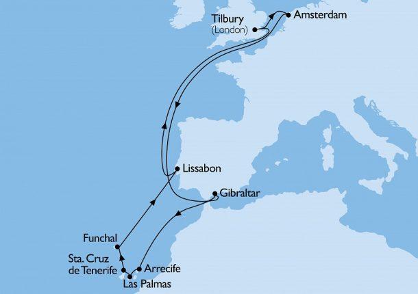 Columbus, Canarische Eilanden en Madeira