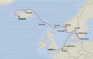 AMS, Noorwegen, IJsland kaart